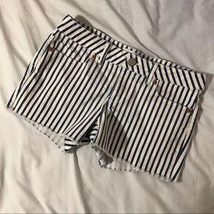 Aeropostale striped jean shorts